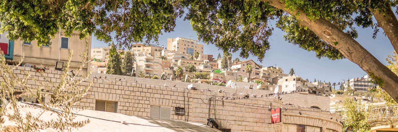 Zicht op het oude stadscentrum van Nazareth.