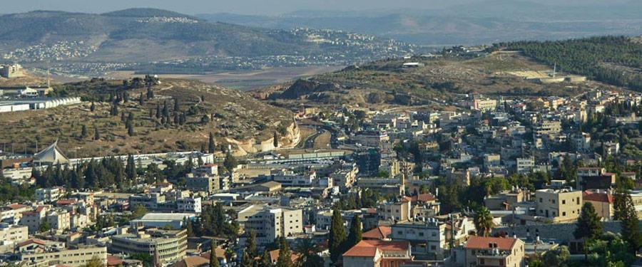 Een overzicht van uit het 'viewpoint' over Nazareth.