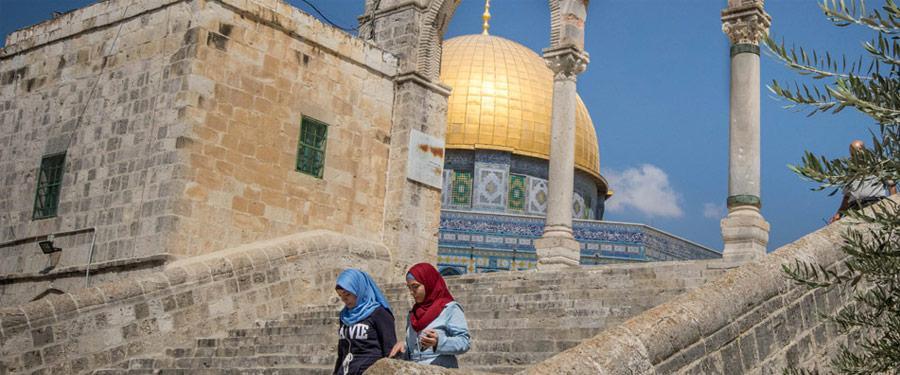 De prachtige Rotskoepel (Dome of the Rock) is volgens mij het mooiste monument in Jeruzalem.
