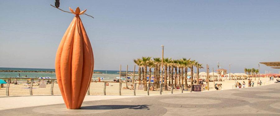 Tel Aviv, oorlogsgebied? Helemaal niet! Prachtig onderhouden stranden zijn daar het bewijs van!