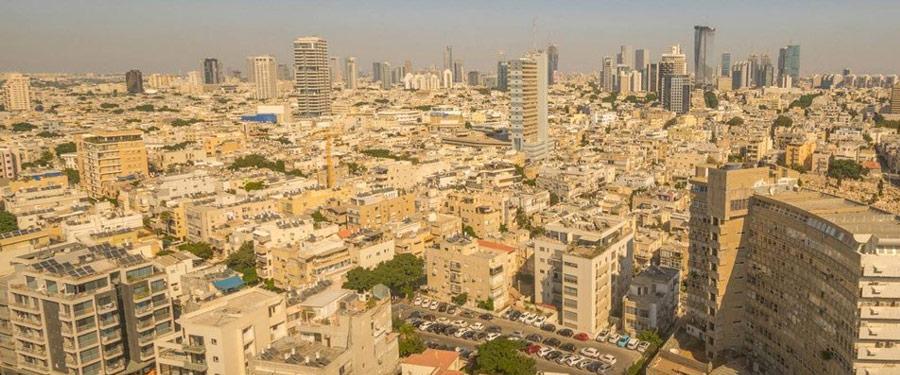 De skyline van Tel Aviv. De moderne en open-minded hoofdstad van Israel.