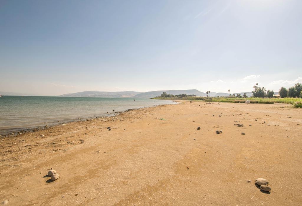 De zee van Galilea. Bekend voor zijn vele doopsels en Jezus die er moeiteloos over het water liep!