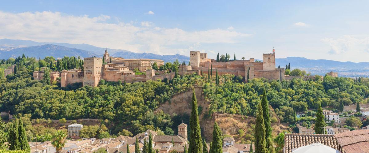 Het Alhambra paleis, gebouwd door de Moren in Andalusië.
