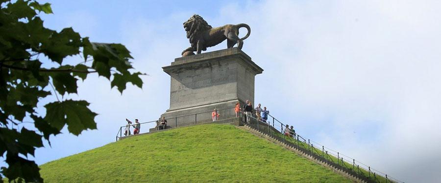 De leeuw van Waterloo. Hier werd Napoleon definitief verslagen.