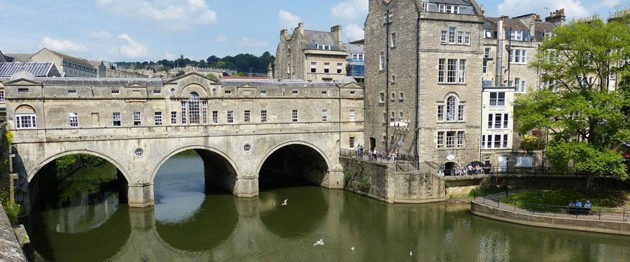 Het prachtige Bath, een oud-Romeinse stad.
