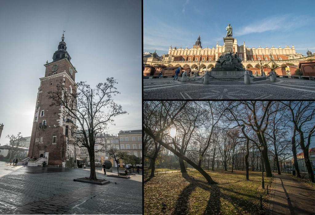Eigenlijk zijn alle mooiste dingen te zien in het oude deel van Krakau, binnen de groene muren van het Planty stadspark.
