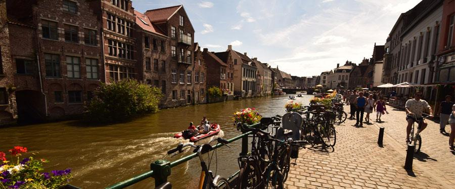 De Gentse binnenstad is voor een groot deel autovrij!
