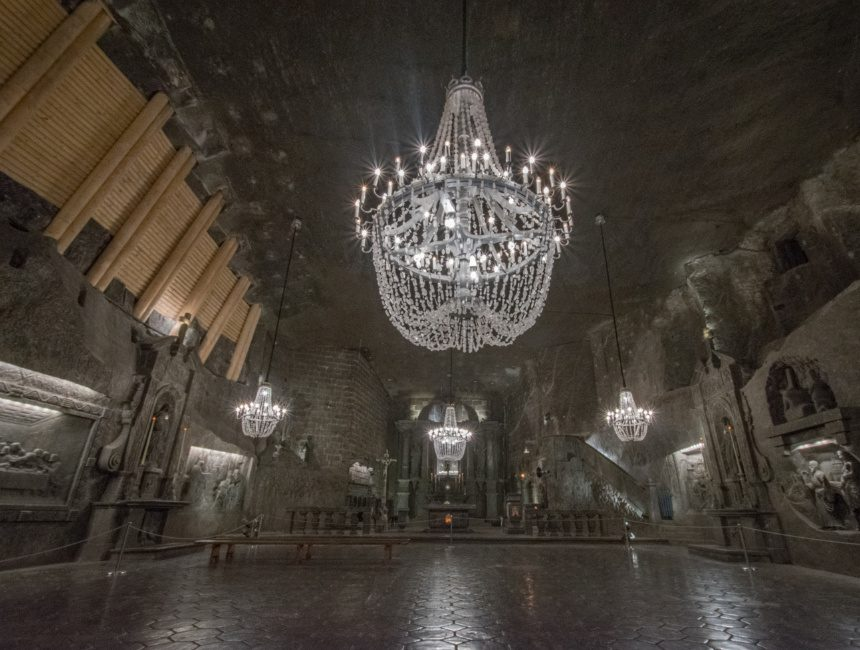 kathedraal wieliczka zoutmijn van Krakau