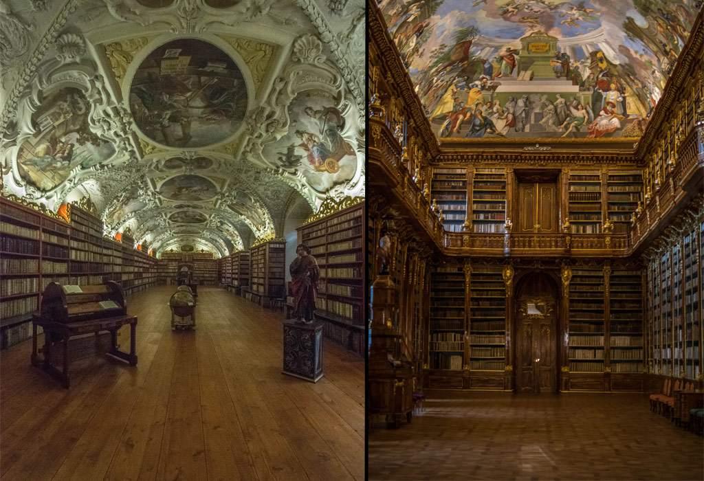 Het Strahov Klooster (Strahov Monastery). Je krijgt meteen zin om een boek te lezen!