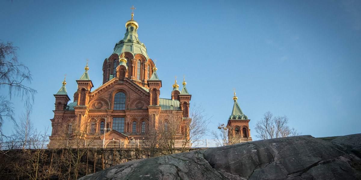 De Uspenskin kathedraal van Helsinki. Het tweede bekendste gebouw van de stad.