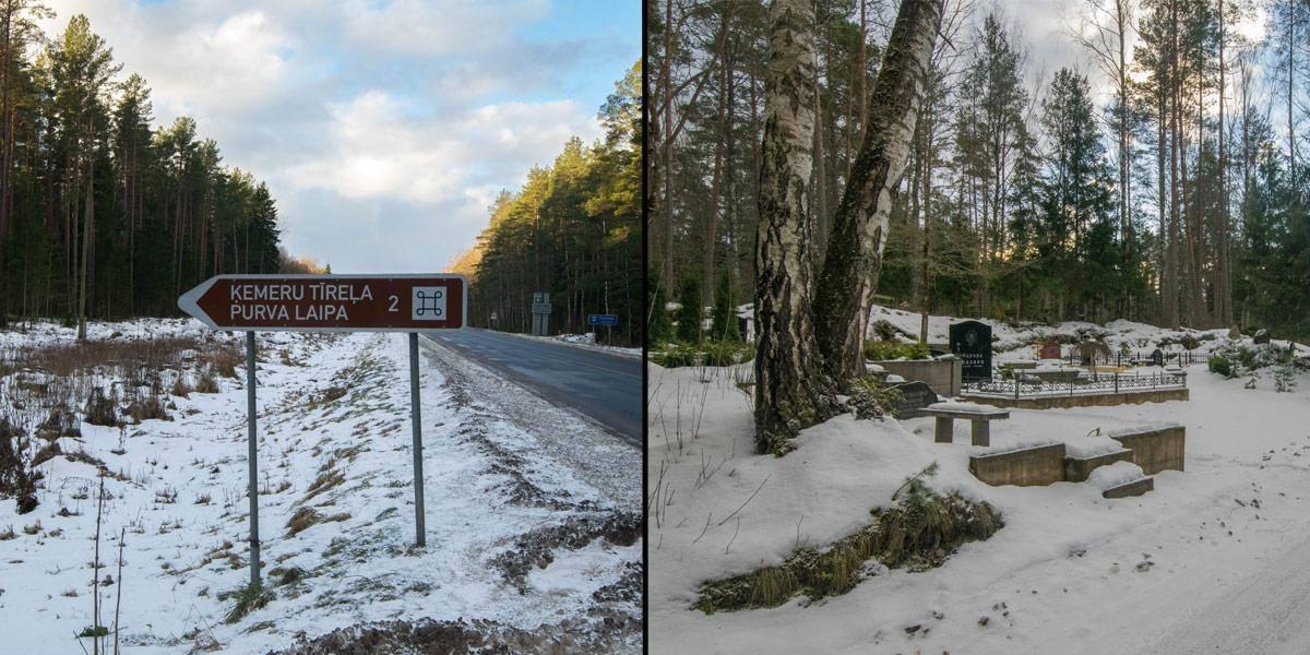 Eindelijk! Bewegwijzering! - Nadat je deze weg bent gevolgd zie je links een kleine begraafplaats verschijnen.
