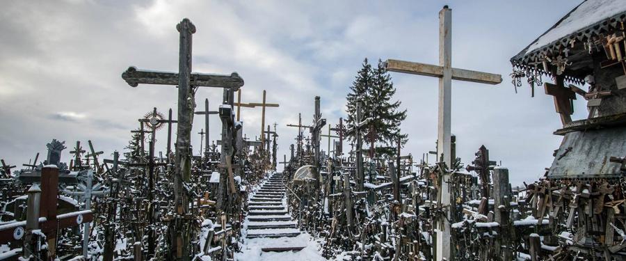 De kruisheuvel van Litouwen was een van de mooiste bezienswaardigheden uit de Baltische staten.