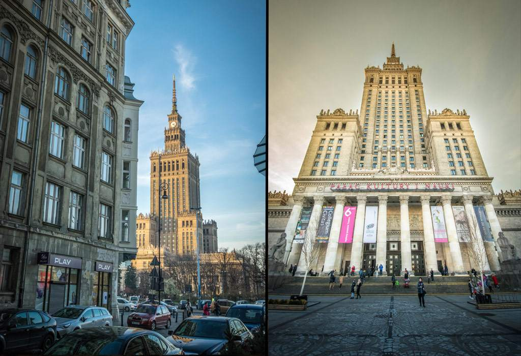 Het museum van wetenschap en cultuur, een van de bekendste gebouwen uit Warschau. Ooit geschonken door Stalin!Het museum van wetenschap en cultuur, een van de bekendste gebouwen uit Warschau. Ooit geschonken door Stalin!
