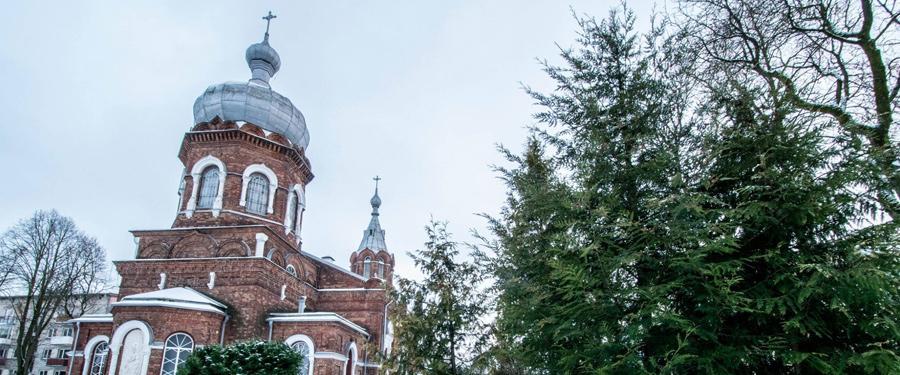 De orthodoxe kerk van Siauliai; de St. George kerk.