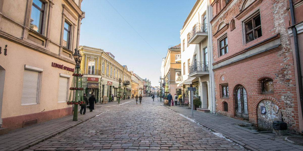 Het oude stadscentrum van Kaunas. Klein maar fijn!