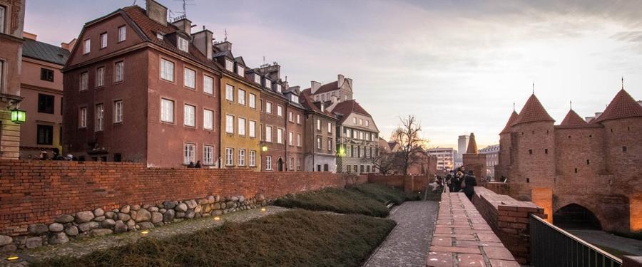 Het oude stadsgedeelte van Warschau; de Stare Miasto.