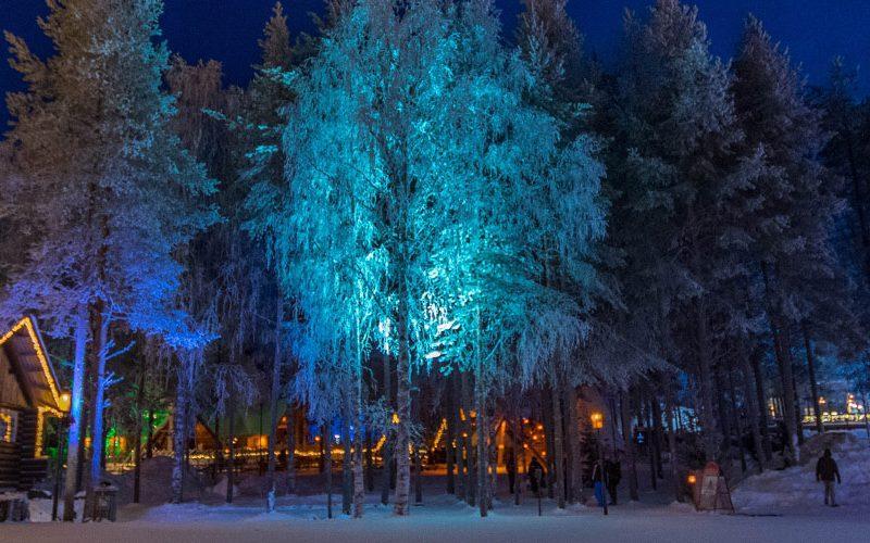 Santa Claus village Rovaniemi, fins Lapland.