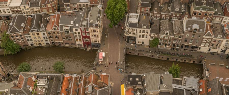 Een mooi bovenaanzicht van Utrecht! Foto genomen vanop de Domtoren.