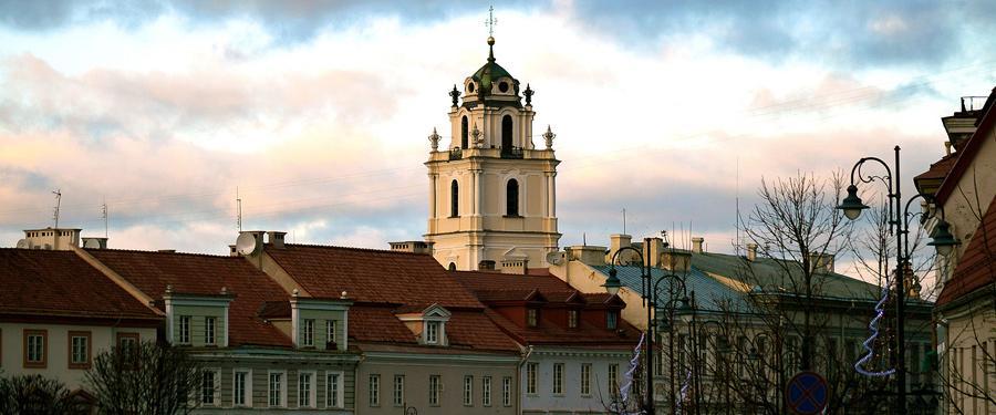 De hoofdstad van Litouwen, Vilnius, is best klein en volgens mij zijn er meer kerken dan inwoners!