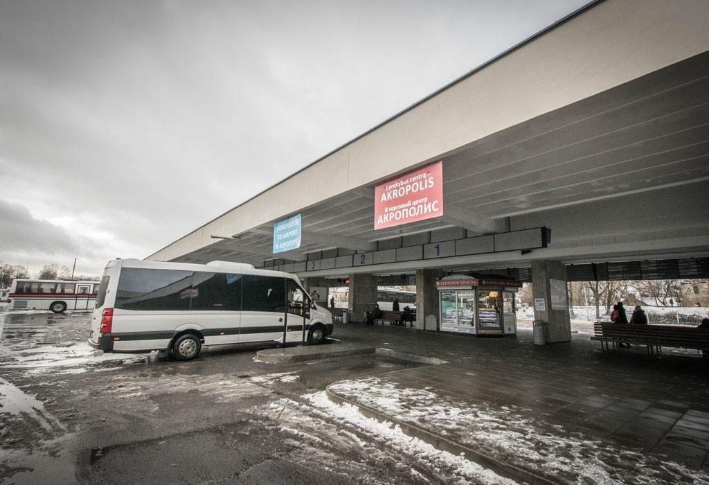 Het busstation van Vilnius. Van hieruit kan je bijne elk half uur naar Trakai reizen.