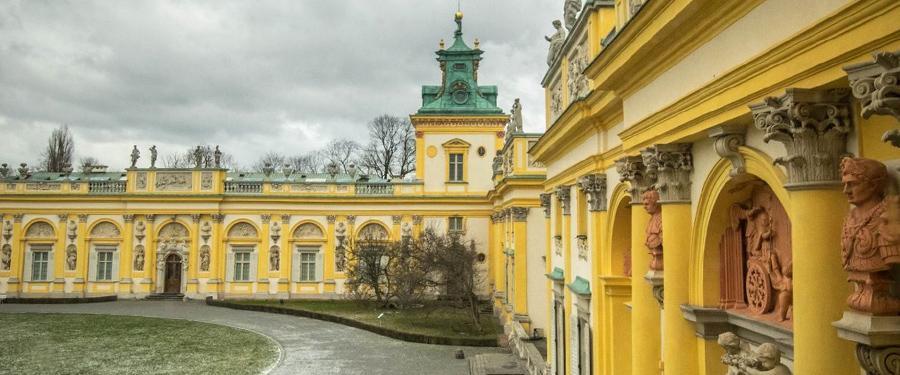 Het Wilanow Paleis van Warschau. Prachtig vanbuiten en vanbinnen!