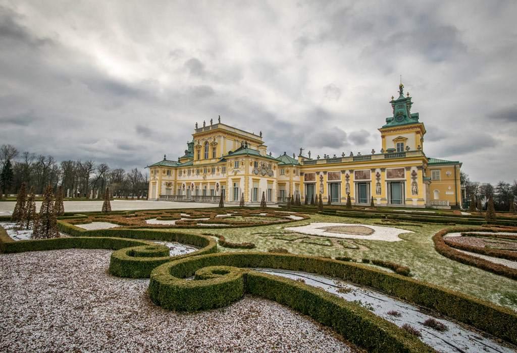 De tuinen van het Wilanow paleis. Prachtig en zeker de moeite waard om even naartoe te reizen.