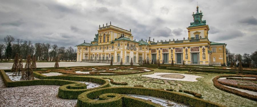 Het Wilanow paleis, op een klein half uurtje van Warschau. Prachtig vanbuiten én vanbinnen!
