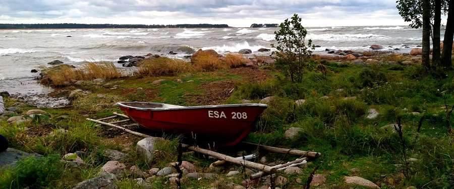 De Baltische zee grens aan Estland.