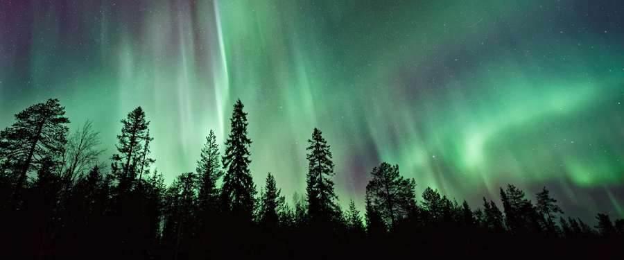 De aurora borealis of het noorderlicht. Finland is één van de weinige landen waar je dit mooie spektakel kan gadeslaan.