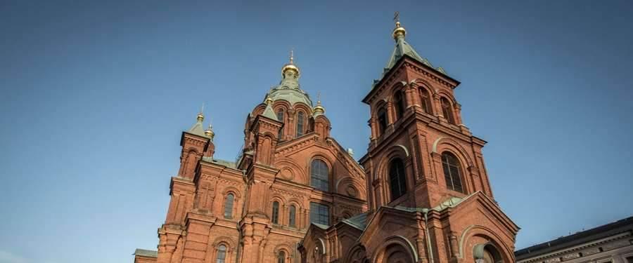 De Oespenski kathedraal is een Russisch-orthodoxe schoonheid die de skyline van de stad versiert.
