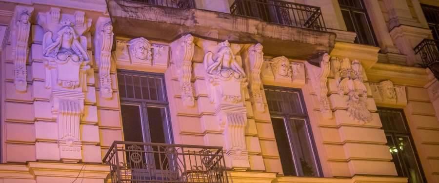 Art nouveau in de straten van Riga.