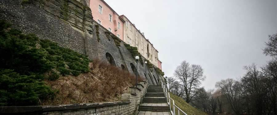 Vanuit de hoogte krijg je een indrukwekkend zicht over Tallinn.