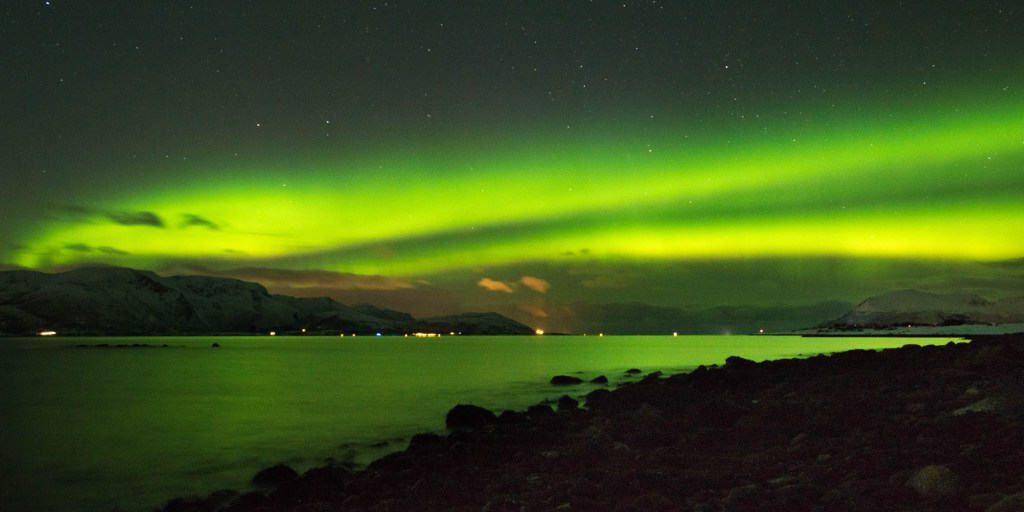 het noorderlicht in noors lapland