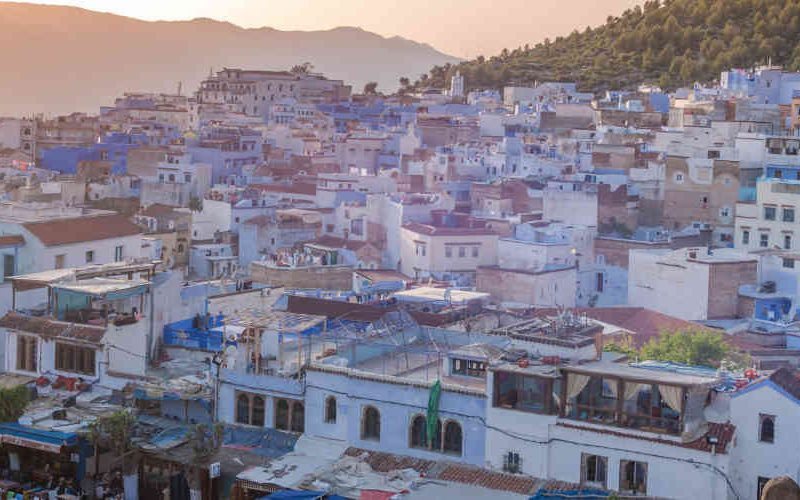 blauwe stad marokko - chefchaouen