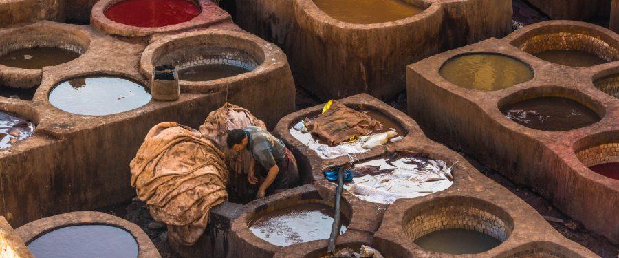 leerlooierij fez en marrakech