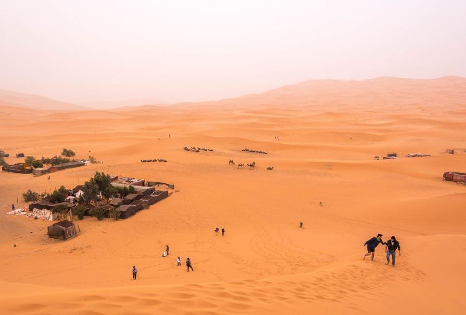 overnachten in de sahara marokko