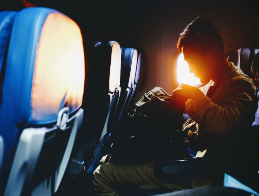Handbagage op het vliegtuig