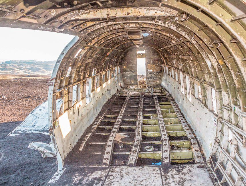 IJsland vliegtuig wrak