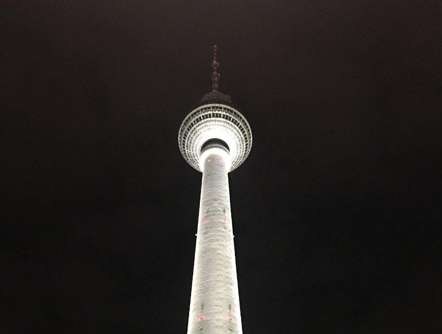 avondverlichting Tv-toren Berlijn
