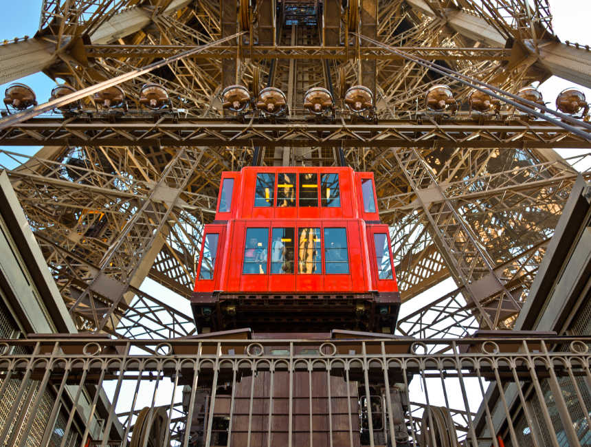 Eiffeltoren bezoeken lift