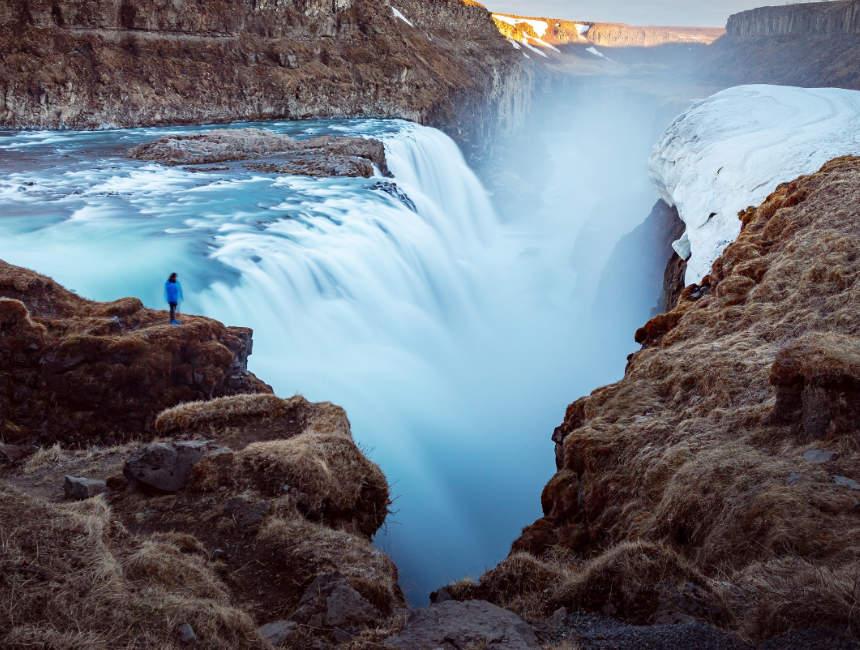 gullfoss waterval golden circle ijsland