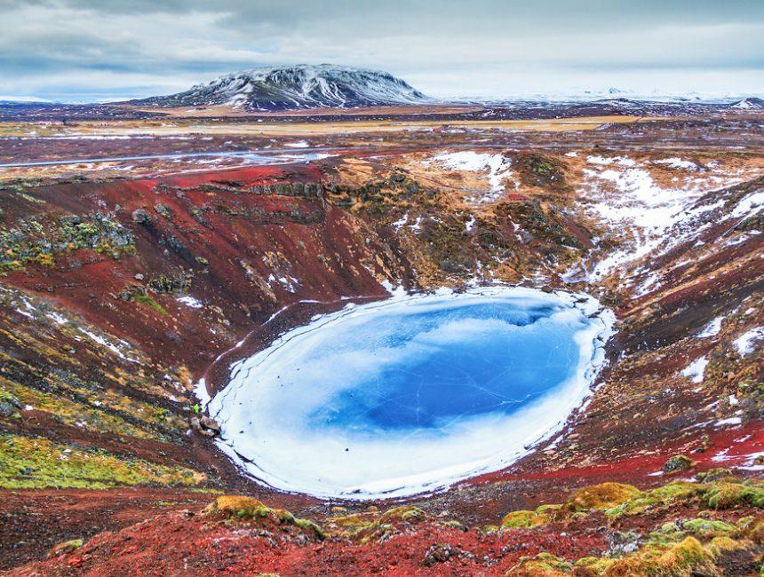 golden circle tour ijsland kerid krater