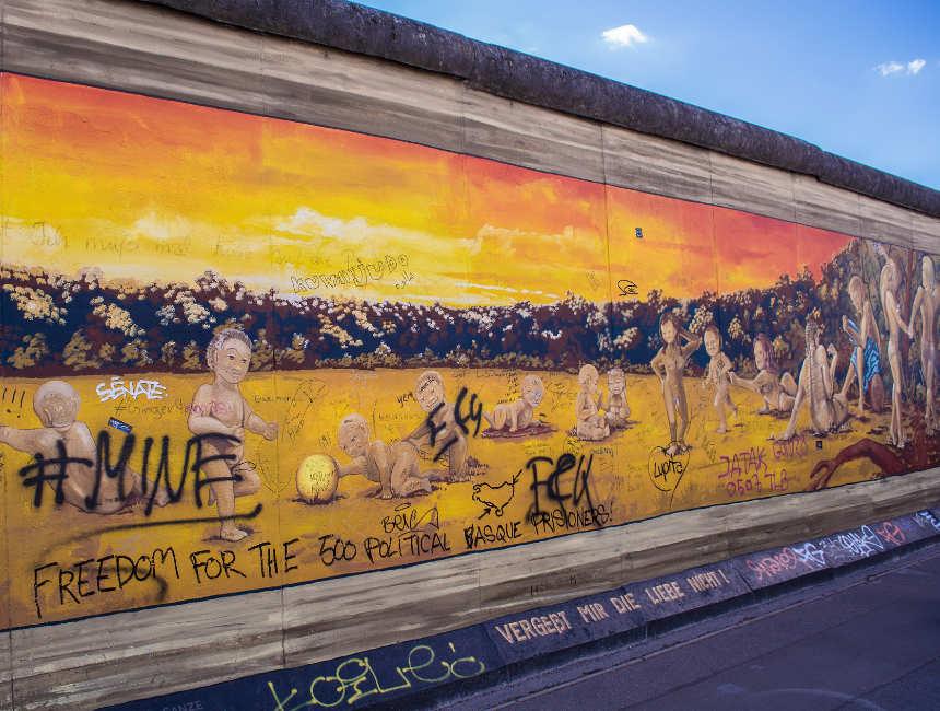 Overblijfselen Berlijnse muur