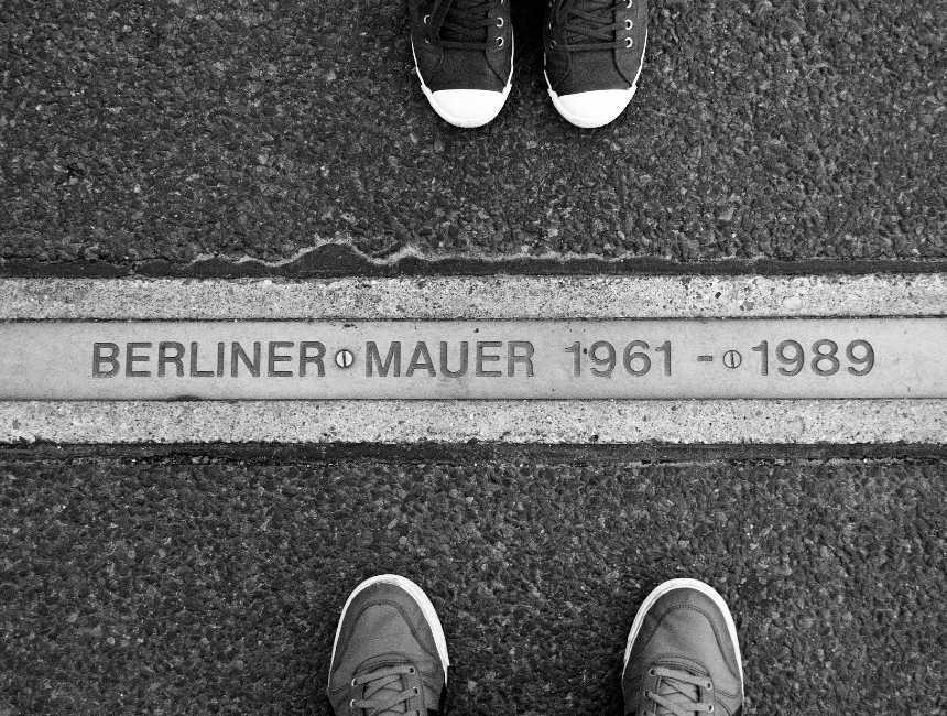 overblijfselen van de Berlijnse muur