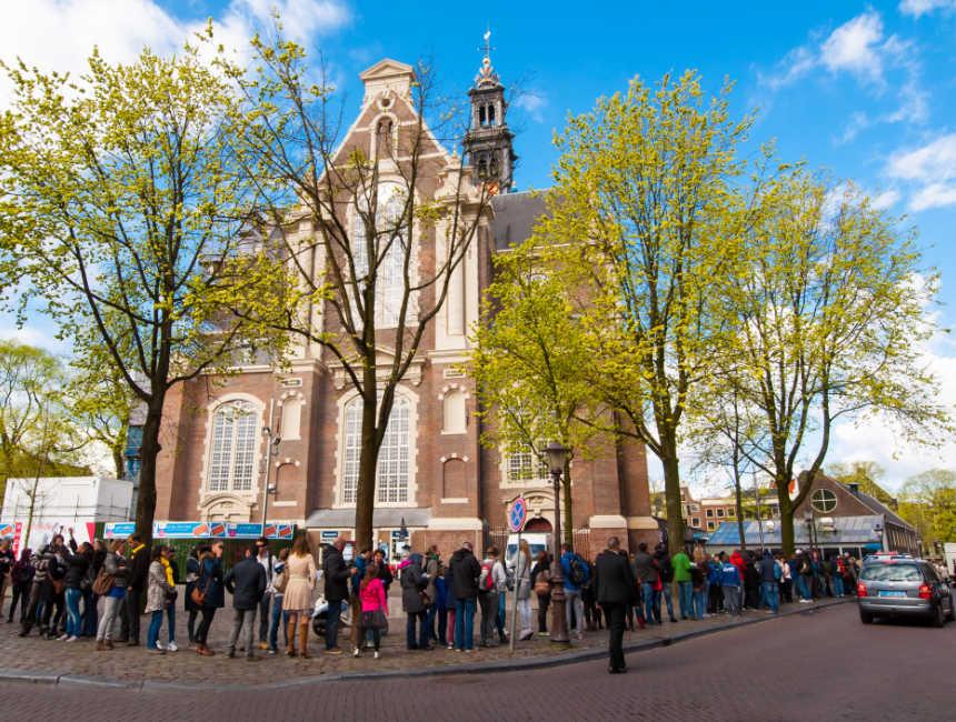 wachtrij Anne Frank Huis