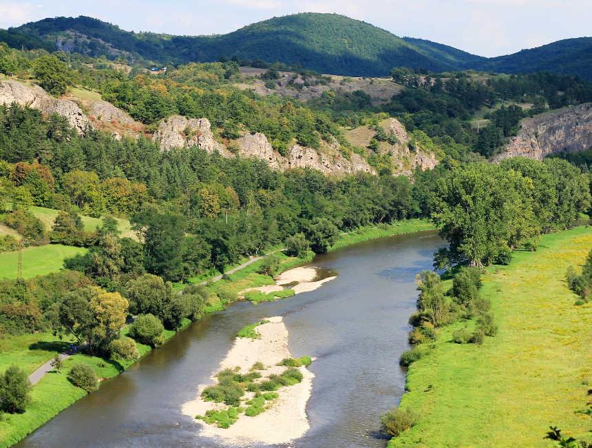 Berounka rivier Tsjechië