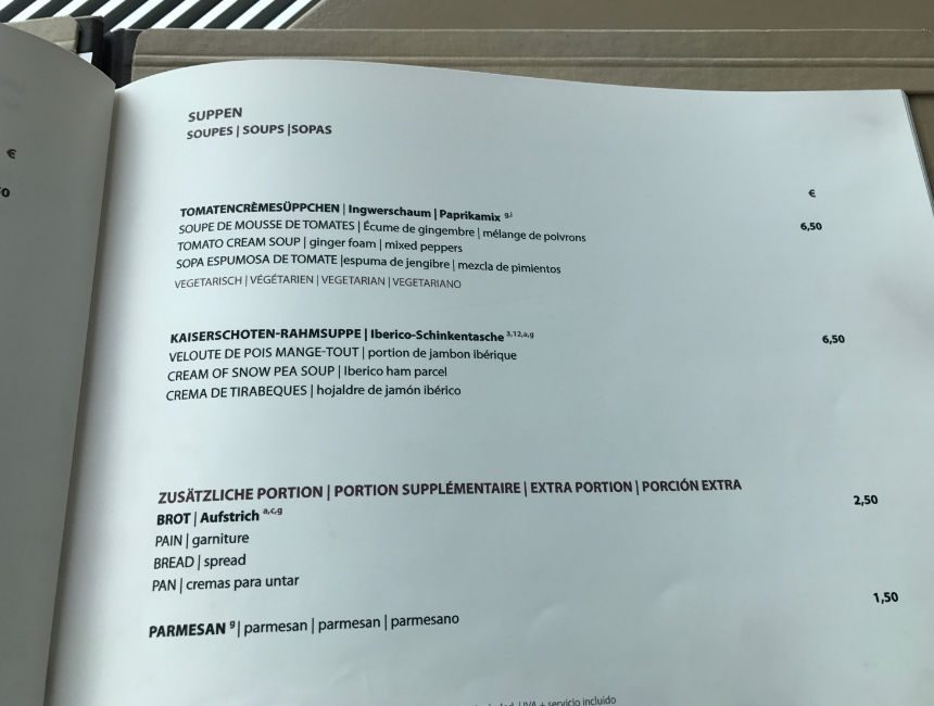 fernsehturm restaurant prijzen