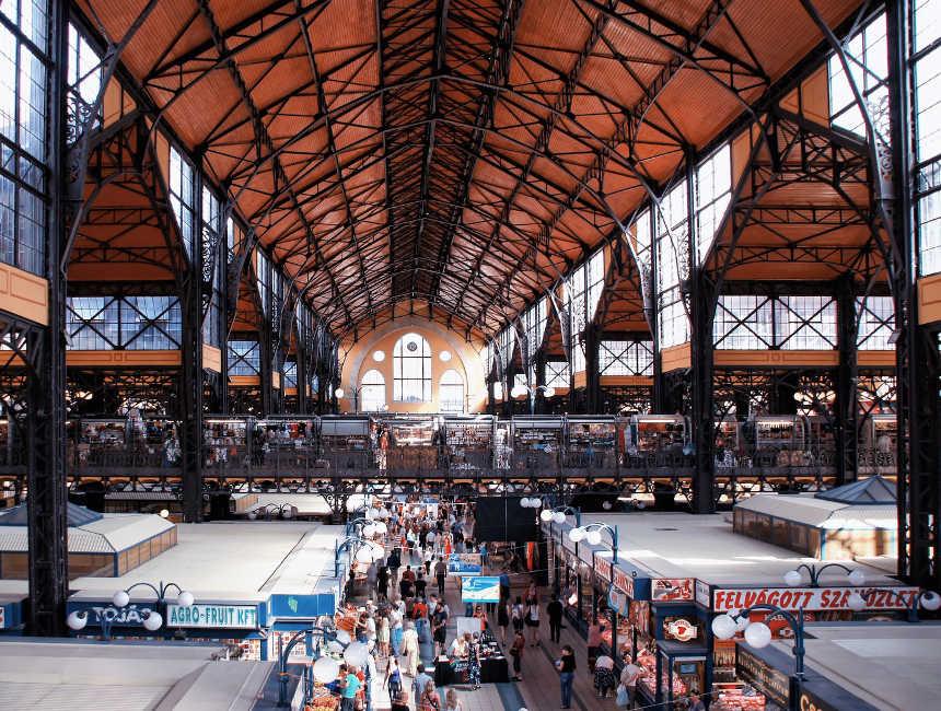 hoogtepunten boedapest - grote markthal