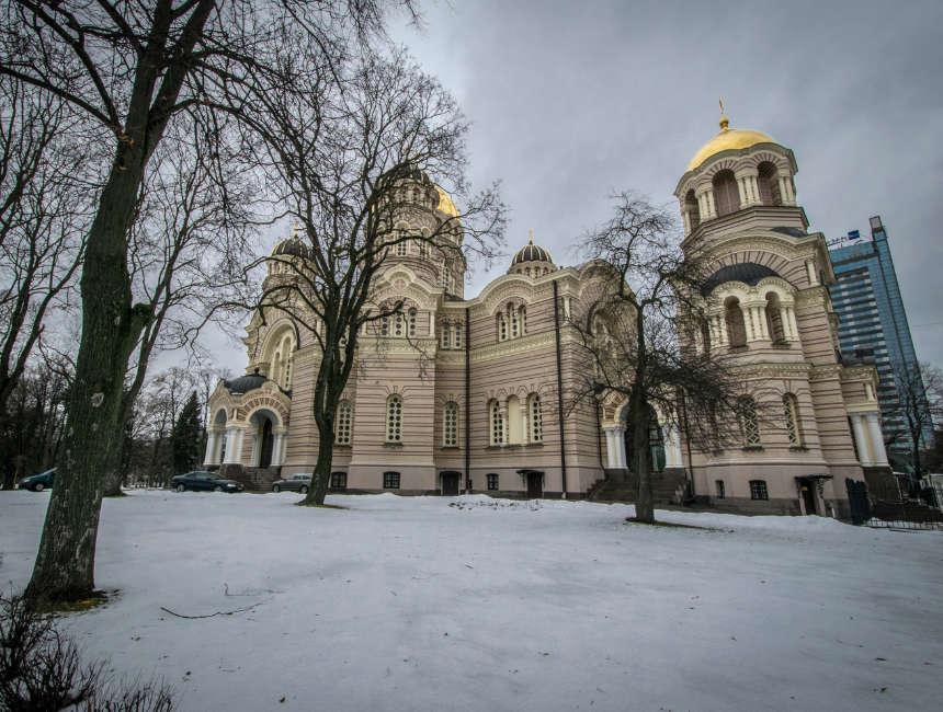 Kathedraal van de geboorte van Christus Riga Russich Orthodoxe kathedraal