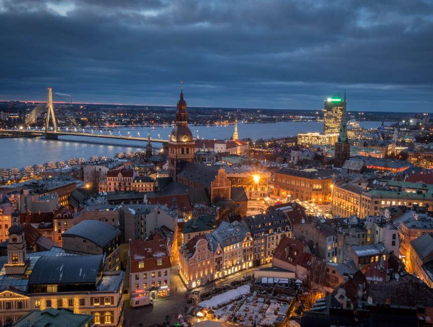 uitzich petrikerk Riga bezienswaardigheden